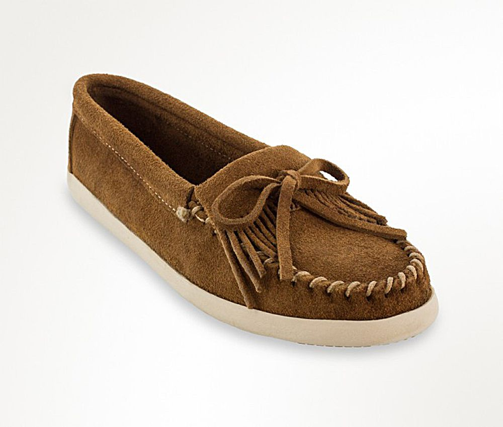 Minnetonka Womens Newport Dusty Brown Mocassin by MINNETONKA