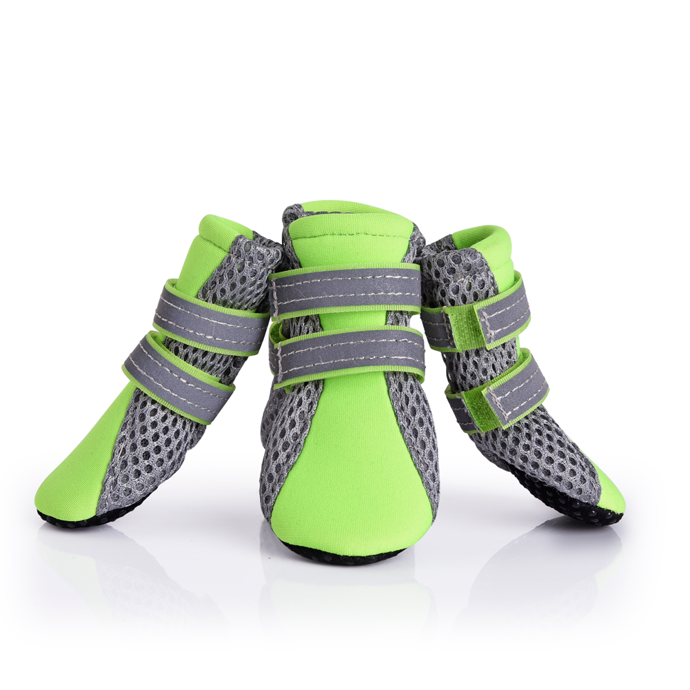 Petacc Anti-slip Dogs Shoes Breathable Pet Boots with Reflective Strip, Suitable for Small Dog, XL