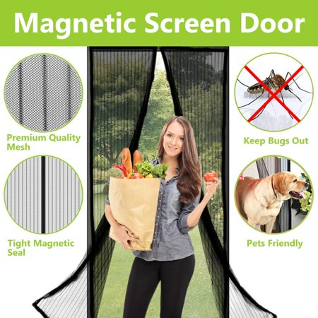 Commercial Air Door (Magnetic Screen Door - Heavy Duty mesh Door Screen and Full Frame Hook & Loop Fits Door Size up to 34
