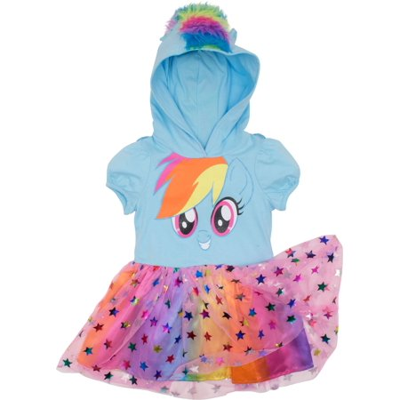 My Little Pony Rainbow Dash Toddler Girls' Costume Dress with Hood and Wings, Blue (18-24 Months) - My Little Dress Up