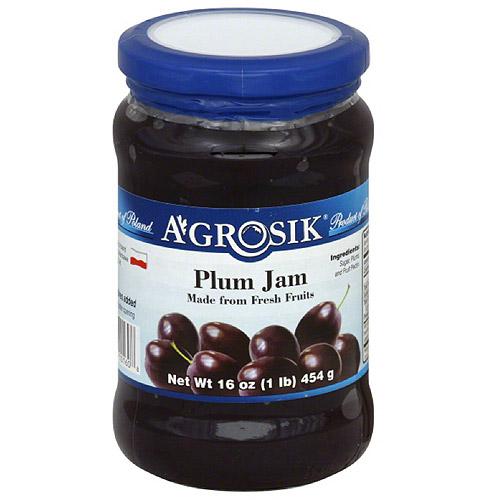 A-GROSIK Plum Jam, 16 oz, (Pack of 6)