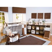 Brandee Danielle Blue Chocolate Fitted Crib Sheet