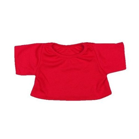 Red T-Shirt Outfit Teddy Bear Clothes Fit 14