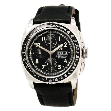 - Luminox 9461 Men's Air P-38 Lightning 9460 Series Black Dial Black Strap Chrono Automatic Dive Watch