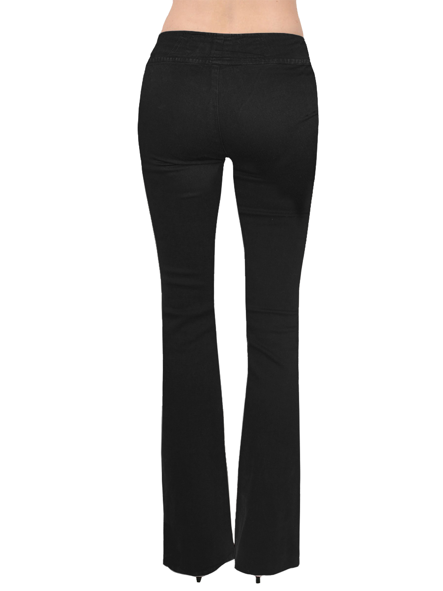 HyBrid /& Company Womens Slim Boot Cut Stretch Pants