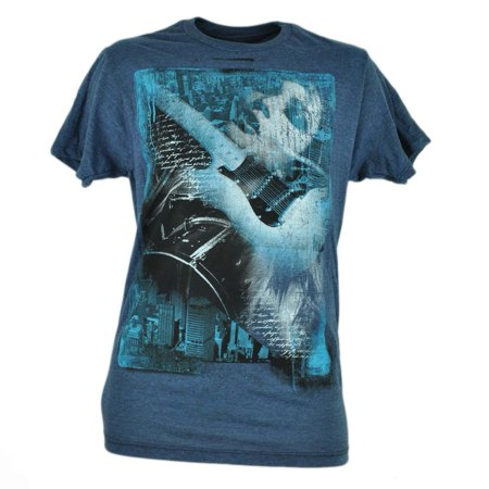 Electric Guitar Girl Blue Helix Distressed Music Instrument Tshirt Shirt XLarge - Buy Girl Online