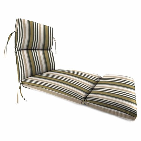 Jordan Manufacturing 74 in. French Edge Kastel Outdoor Chaise Cushion with Ties ()