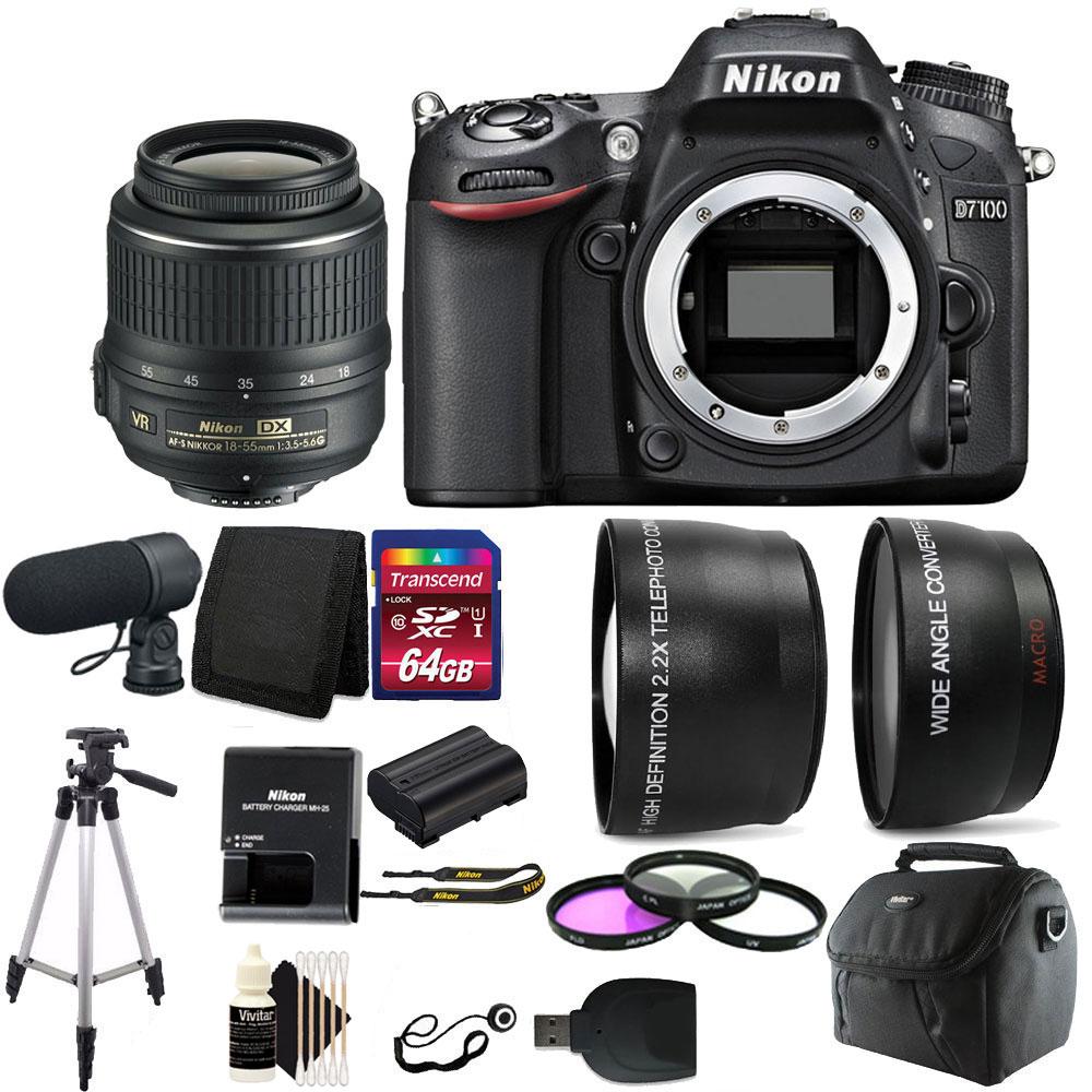 Nikon D7100 24.1MP DSLR Camera with Microphone plus Delux...