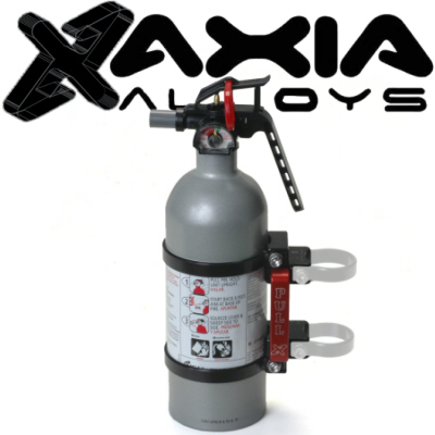 Axia Alloys Black Anodized Quick Release Mount With 2lb Class B:C Kidde Fire Extinguisher