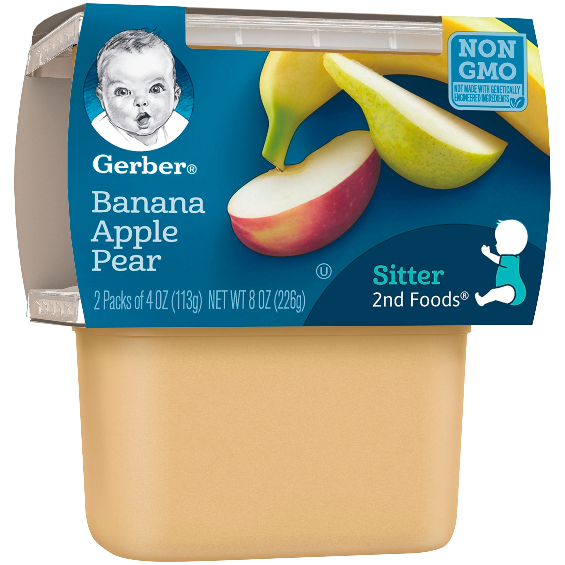 <mark>Gerber</mark> 2nd <mark>Foods</mark> Banana Apple Pear, 4 Ounce Tubs, 2 Count (Pack of 8)
