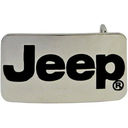 Steel Roller Buckle - JEEP Logo Belt Buckle Chrome Steel Wrangler 4x4 *NEW*