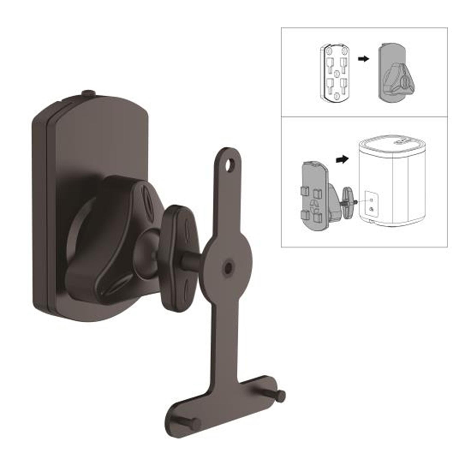 Pyle Dual Universal Wall Mount Speaker Stands, Tilt/Swive...