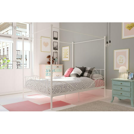 DHP Canopy Metal Bed, Multiple Sizes, Multiple Colors