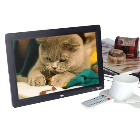 "Andoer 12"" HD TFT-LCD Full-view Digital Photo Frame Alarm"