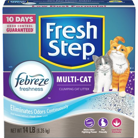 Fresh Step Multi-Cat With Febreze Freshness, Clumping Cat Litter, Scented, 14 Lbs