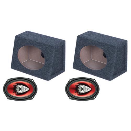 "2)  BOSS CH6930 6x9"" 400W Car Audio Speakers + 2) 6x9"" Speaker Box Enclosures"