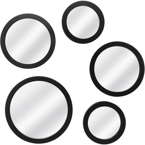 Mainstays 5-Piece Mirror Set, Black