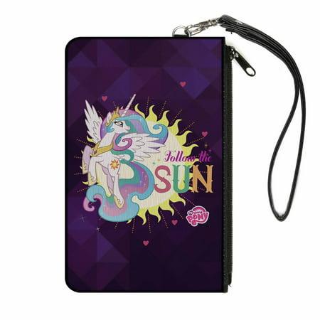 Princess Celestia Follow The Sun Purples Canvas Zipper Wallet