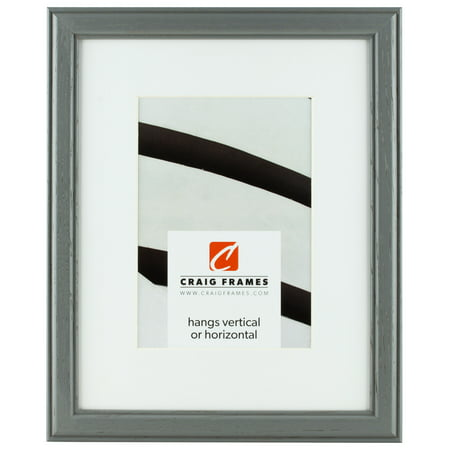 Craig Frames Wiltshire 236, 11 x 14 Inch Grey Picture Frame Matted to Display an 8 x 10 Inch Photo