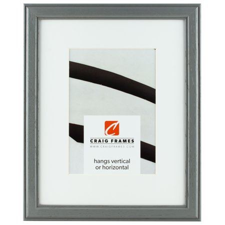 Craig Frames Wiltshire 236, 16 x 20 Inch Grey Picture Frame Matted to Display a 11 x 14 Inch Photo