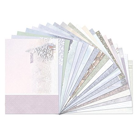 Christmas Cards Picture Insert (Crafts White Christmas Inserts for Cards A4 Sheets 140gsm 20pc, 20 Sheets of Inserts to match White Christmas card set (sold separately) By)