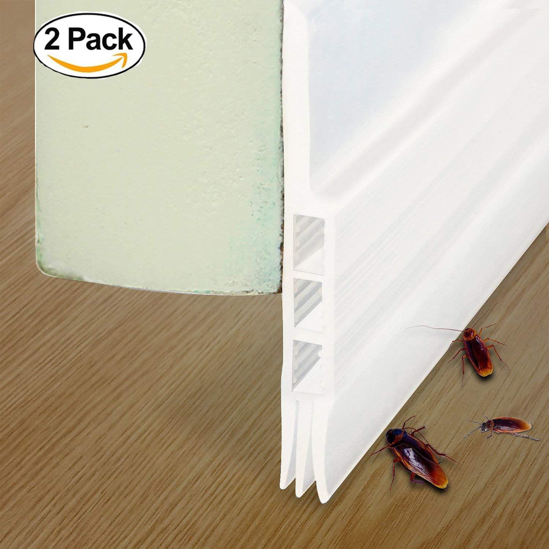 2 Pack Under Door Seals Under Door Draft Stopper Door