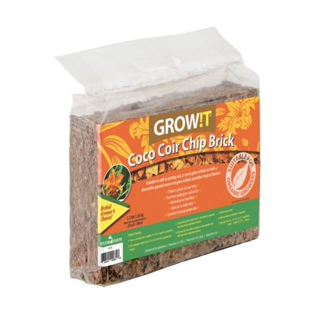 Plant!t JSCCB Coco Coir Chip Brick set of 3Alternative to peat moss By Hydrofarm (Coconut Husk Brick)