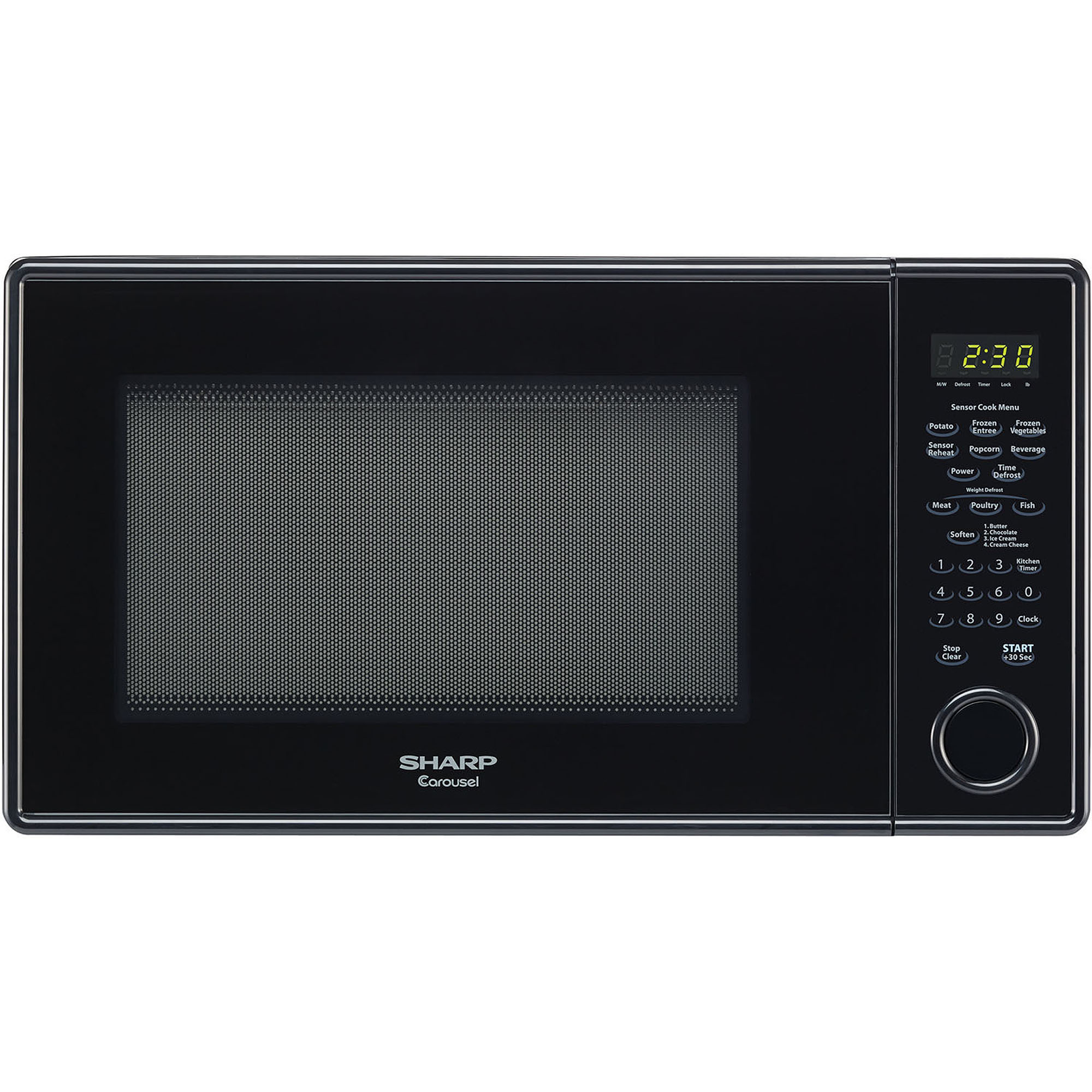 Sharp R459yk Carousel Countertop Microwave Oven 1 3 Cu Ft 1000w Black