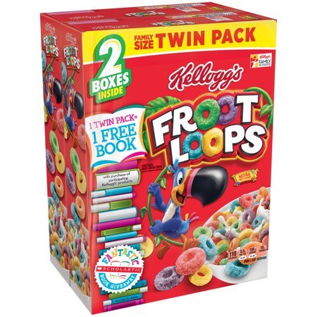 Kelloggs Froot Loops Cereal Banded Bts 43 4 Oz  2 21 7Oz
