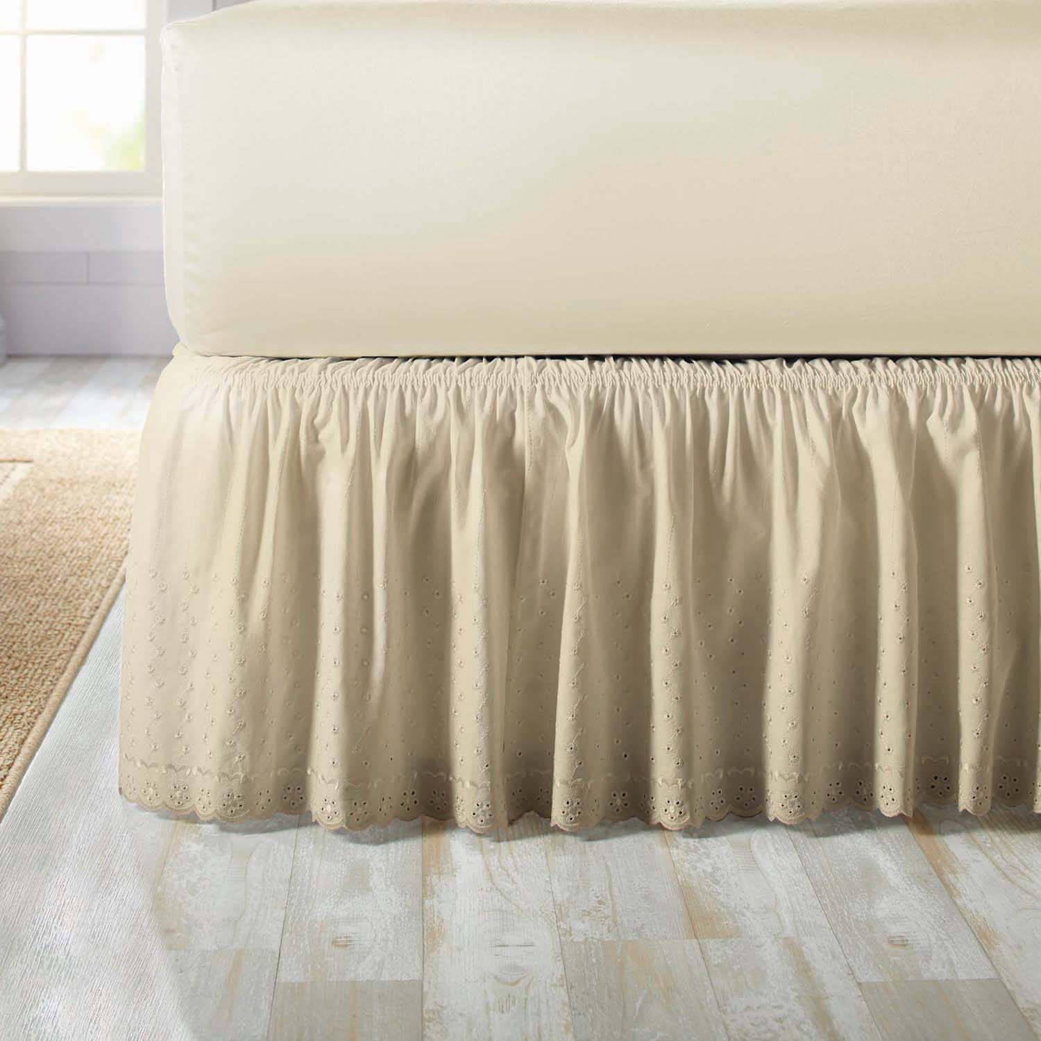 Better Homes and Gardens Eyelet Adjustable Bedskirt