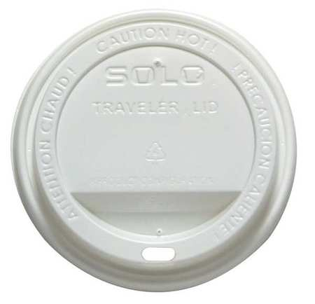 SOLO CUP OFTL36-0007, Dome Lid, for 12/16 Oz Hot Cups, PK 300