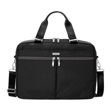 Women's baggallini SLB915 Slim Laptop Brief Black/Charcoal OSFA - Large Laptop Brief
