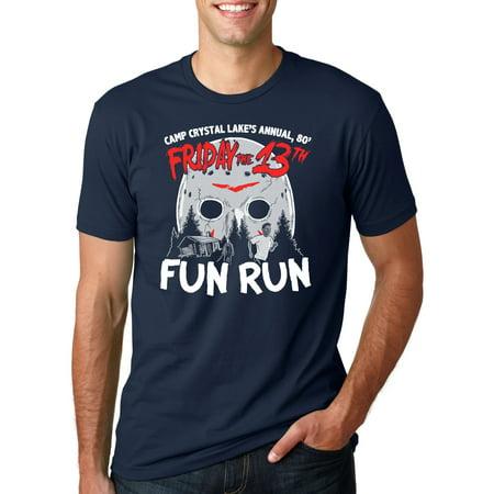 438cc756f163 Crazy Dog T-Shirts - Crazy Dog TShirts - Mens Scary Run Halloween Horror  Funny Vintage Movie T shirt (Navy) - blues - Walmart.com