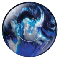 White Dot Bowling Ball- Blue/Black/Silver