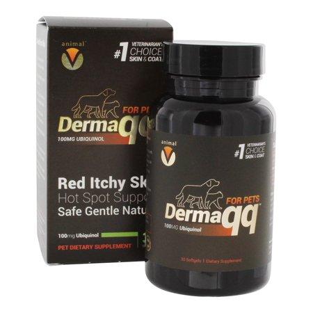 (Extreme V - Animal V Dermaqq Ubiquinol Hot Spot Support for Pets - 30 Vegetarian Softgels)