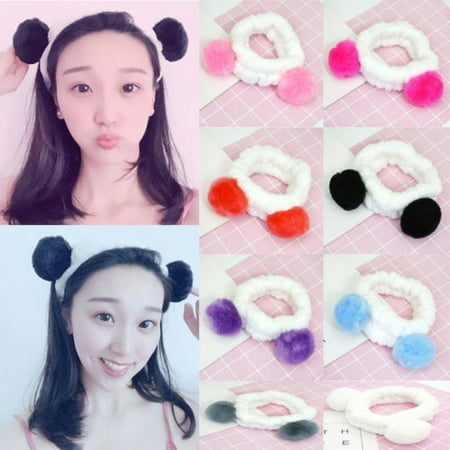 Spa Bath Shower Makeup Wash Face Cosmetic Headband Hair Band Velvet Hairband Face Color White Band