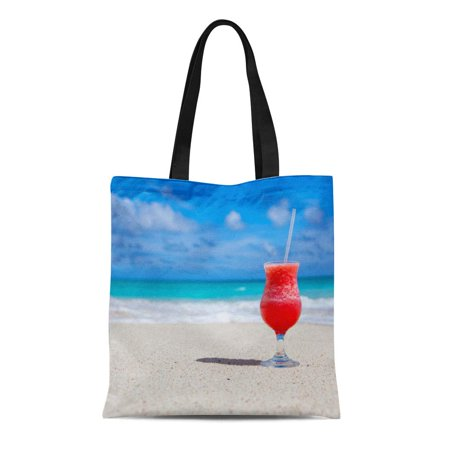 KDAGR Canvas Tote Bag Wedding Beach Cheers Tropical Jersey Shore Florida Cocktails Party Reusable Handbag Shoulder Grocery Shopping Bags (Jersey Shore Store)