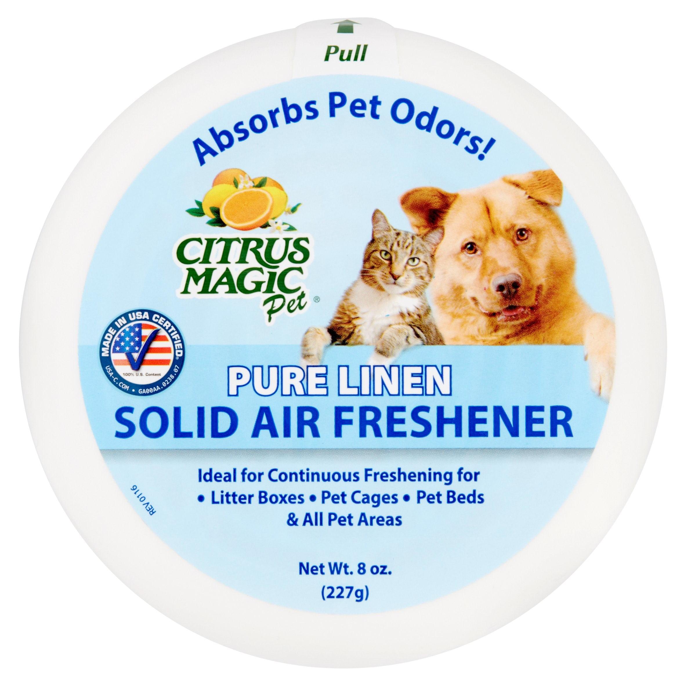 Citrus Magic Pet Odor Absorbing Solid Air Freshener, Pure Linen, 8 oz.