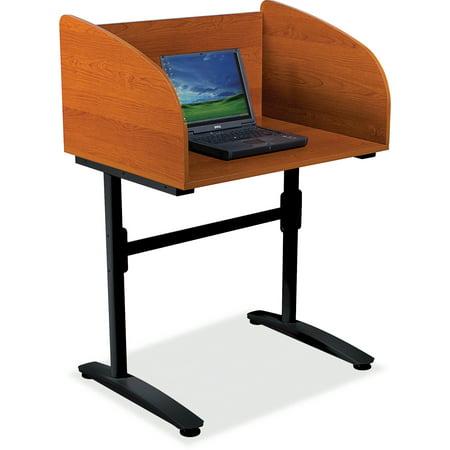 BALT Lumina Starter Carrel, 31-1/4w x 24d x 45-3/4h, Cherry/Black (Starter Furniture)