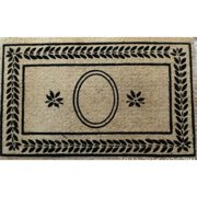 A1 Home Collections LLC Leaf Border Doormat