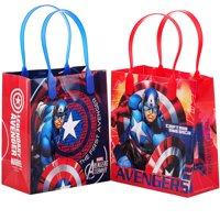 """Marvel Avengers Captain America 12 Party Favors Small Goodie Gift Bags 6"""""""