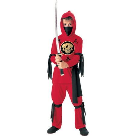 Kid's Red Ninja Costume (Ninja Brian Costume)
