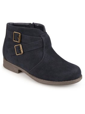 Brinley Kids Toddler Girl's Ankle Strap Buckle Faux Suede Boots