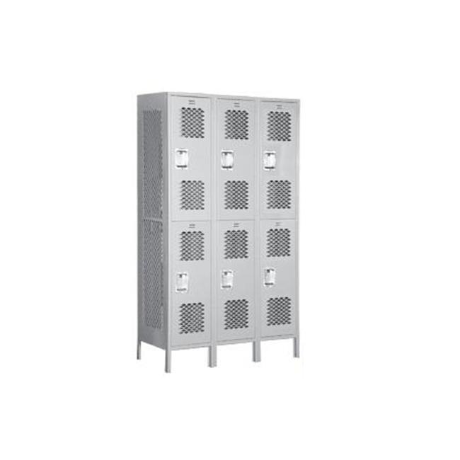 Salsbury Industries 15 inch D Extra Wide Vented Metal Locker-Double Tier-3 Wide--
