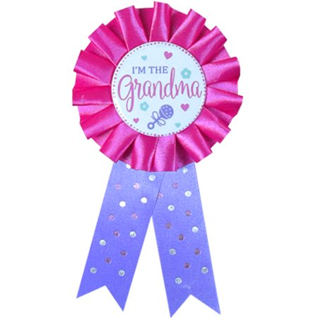 Baby Shower Pink 'I'm The Grandma' Guest of Honor Ribbon (1ct) - Gifts For Baby Shower Guests