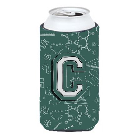 Letter C Back to School Initial Tall Boy Beverage Insulator Hugger CJ2010-CTBC