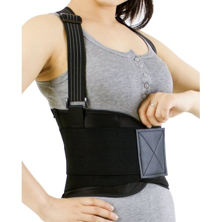 Back Brace With Suspenders For Women  Support For Lower Back Pain  Gym   Bodybuilding   Weight Lifting Belt  Training  Work Safety And Posture   Neotech Care  Tm  Brand   Black Color   Size M