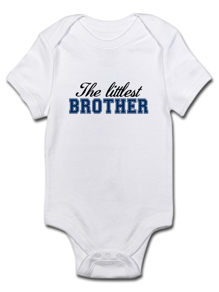CafePress The Littlest Brother T Shirt Organic Baby T