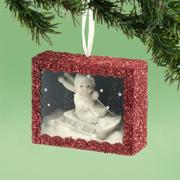 Department 56 Snowbabies 4031919 Snowy Sledding Box Ornament 2013