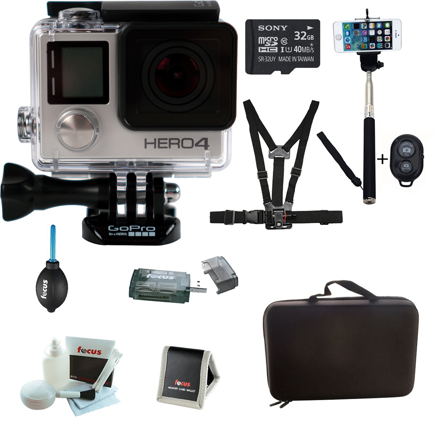 GoPro HERO4 SILVER Edition Camera HD Camcorder With Sony ...
